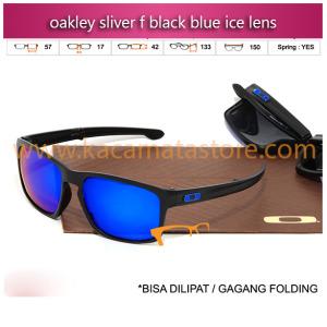 kacamata oakley sliver f black blue ice lens toko kacamata online harga kacamata pria wanita branded kacamata kw murah terbaru 2015
