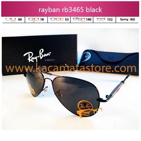 jual kacamata rayban terbaru aviator rb3465 black