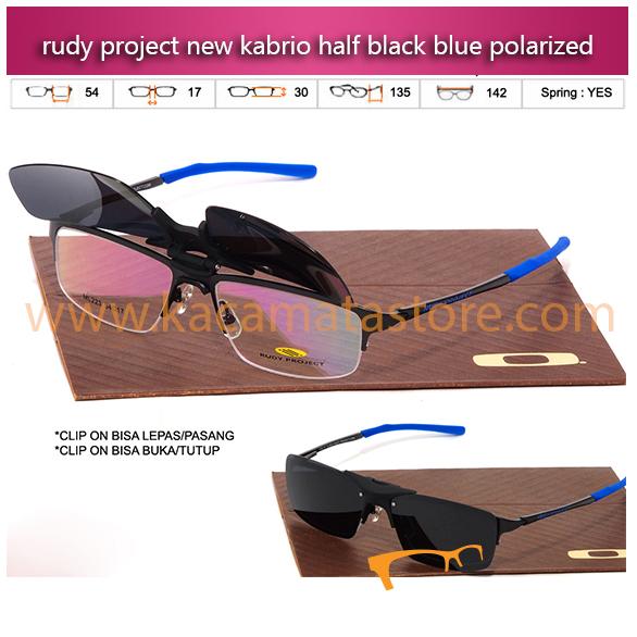 Jual Kacamata Rudi Project Kabrio Clip On Half Black Blue kacamata baca terbaru