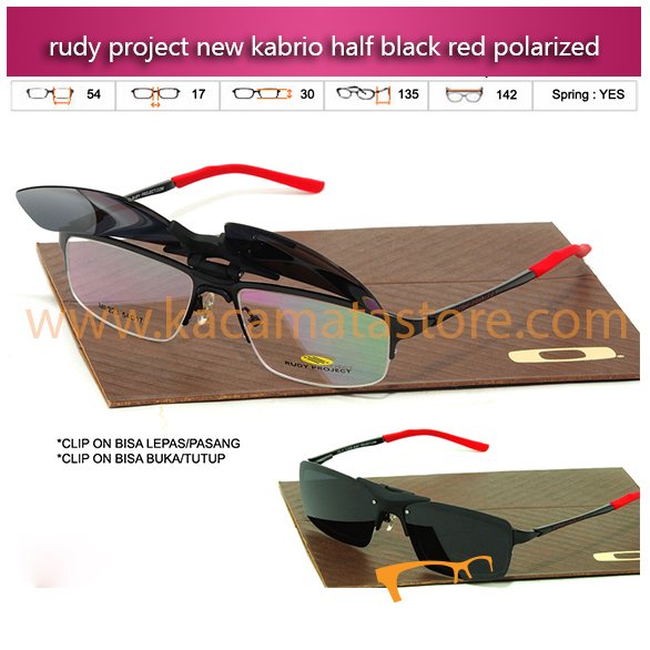 Jual Kacamata Baca Terbaru Kacamata Rudy Project Kabrio Clip On Half Black Red Polarized