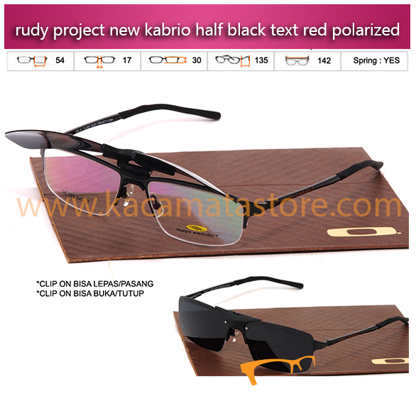 Harga Kacamata Baca Terbaru Kacamata Rudy Project Kabrio Clip On Half Black Text Red Polarized