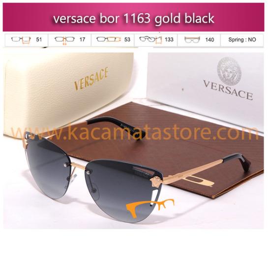 jual kacamata wanita model terbaru 2015 versace bor 1163 gold black