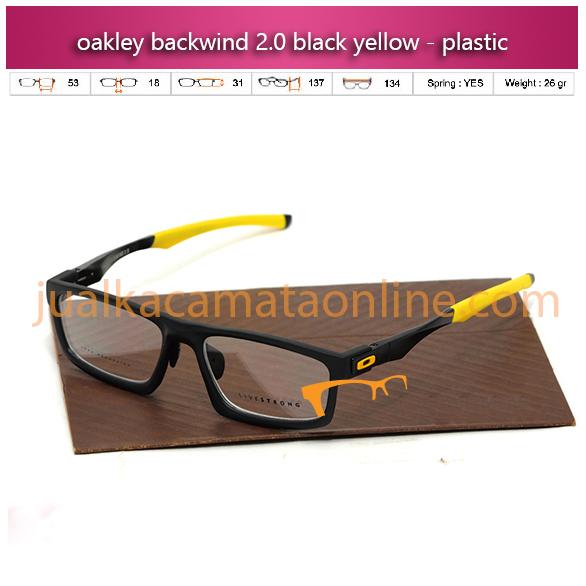 frame kacamata oakley murah blackwind black yellow