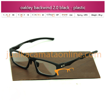 jual frame kacamata oakley backwind black terbaru 2015