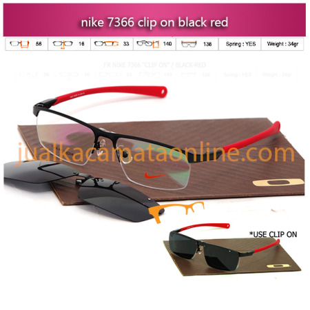 kacamata online men jual kacamata baca terbaru nike clip on 7366 black red