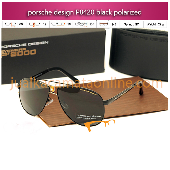 jual kacamata porsche design p8420 black