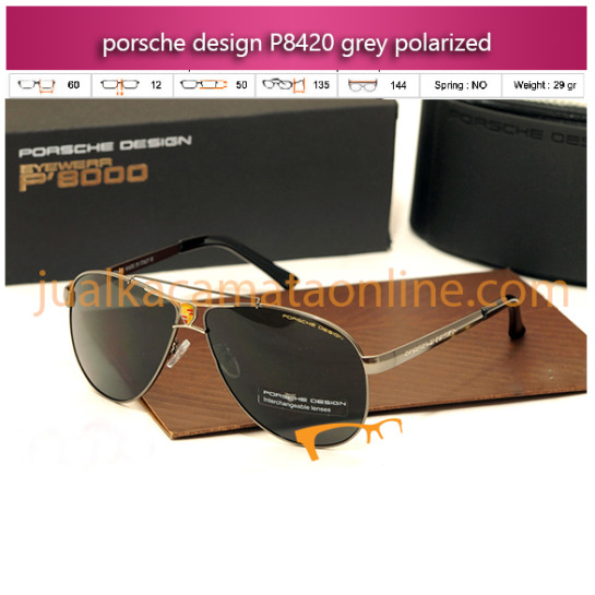 jual kacamata porsche design p8420 grey polarized
