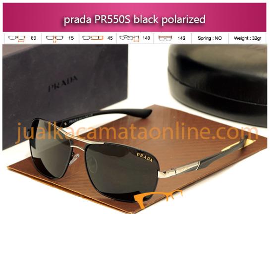 jual kacamata prada terbaru pr550s black