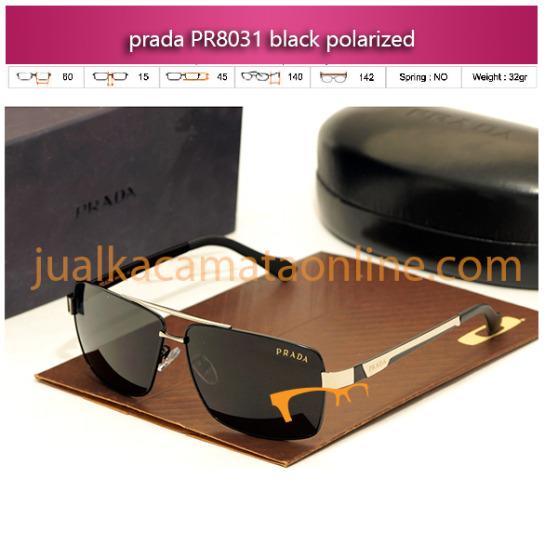 jual kacamata prada terbaru pr8031 black