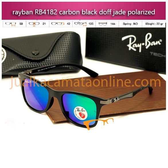 jual kacamata rayban murah rb4182 carbon black jade