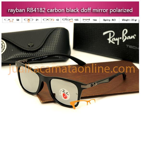 jual kacamata rayban murah rb4182 carbon black mirror