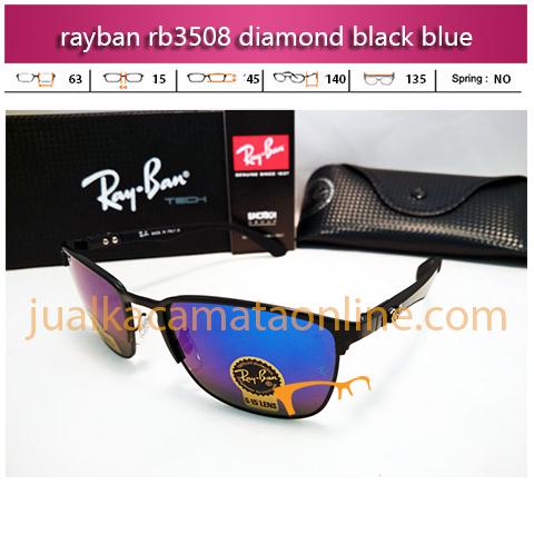 jual kacamata rayban rb3508 diamond black blue