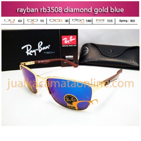 jual kacamata rayban rb3508 diamond gold blue