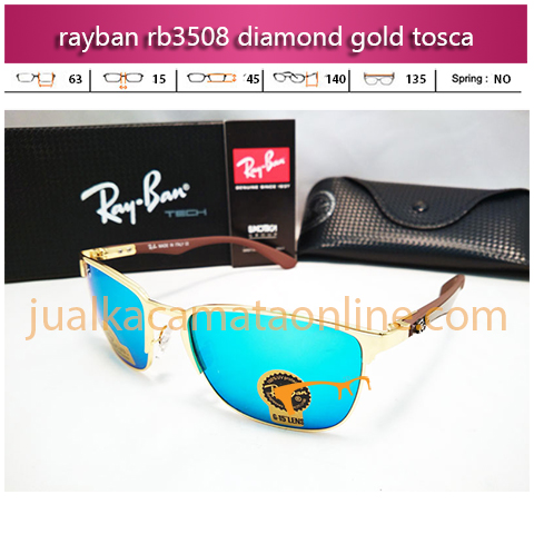 jual kacamata rayban rb3508 diamond gold tosca