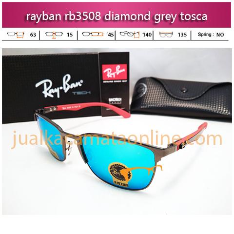 jual kacamata rayban rb3508 diamond grey tosca