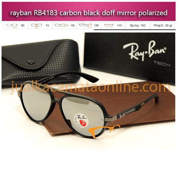 jual kacamata rayban rb4183 carbon black mirror