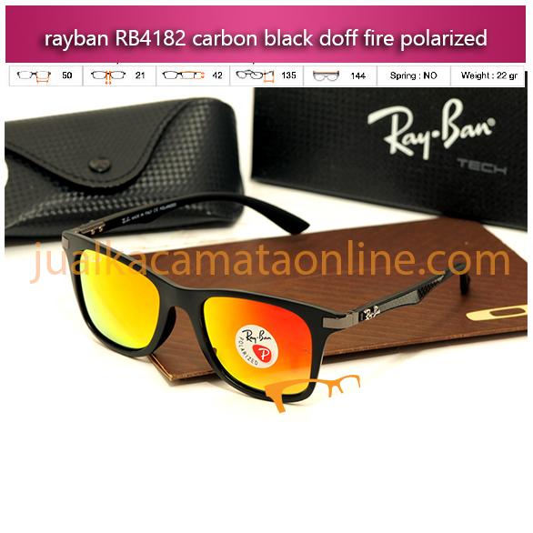 jual kacamata rayban terbaru rb4182 carbon black fire