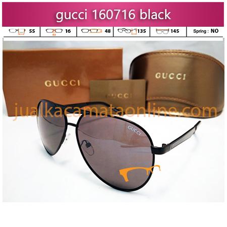 jual kacamata wanita gucci 160716 black