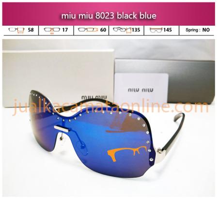 jual kacamata wanita miu miu 8023 black blue