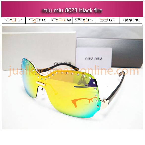 jual kacamata wanita miu miu 8023 black fire