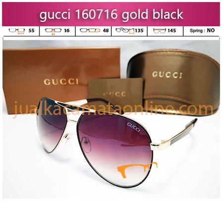 jual kacamata wanita terbaru gucci 160716 gold black
