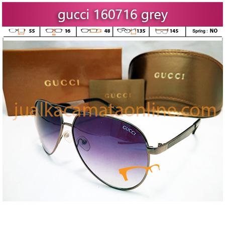 jual kacamata wanita terbaru gucci 160716 grey