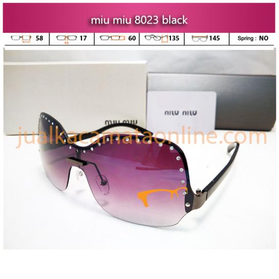jual kacamata wanita terbaru miu miu 8023 black