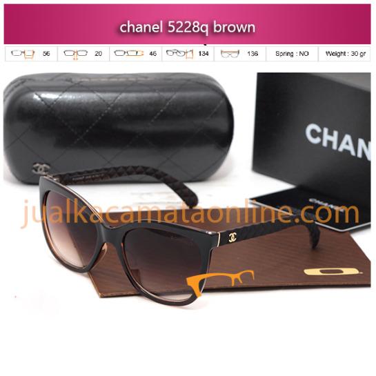 model kacamata chanel terbaru 5228 brown kacamata wanita online