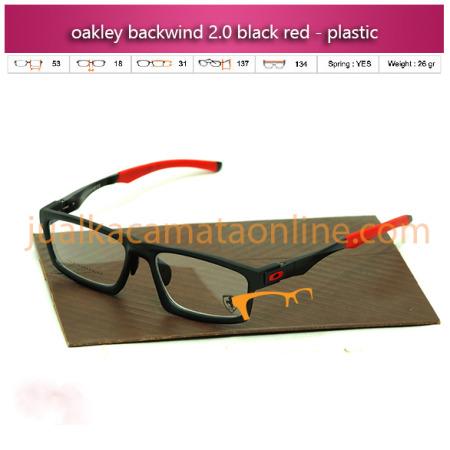 jual kacamata oakley terbaru kacamata baca backwind black red