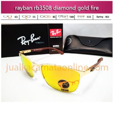 jual kacamata rayban rb3508 diamond gold fire