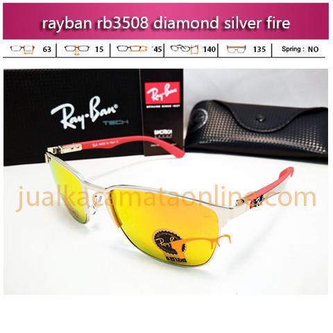 jual kacamata rayban rb3508 diamond silver fire