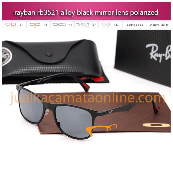 kacamata rayban rb5321 black mirror polarized