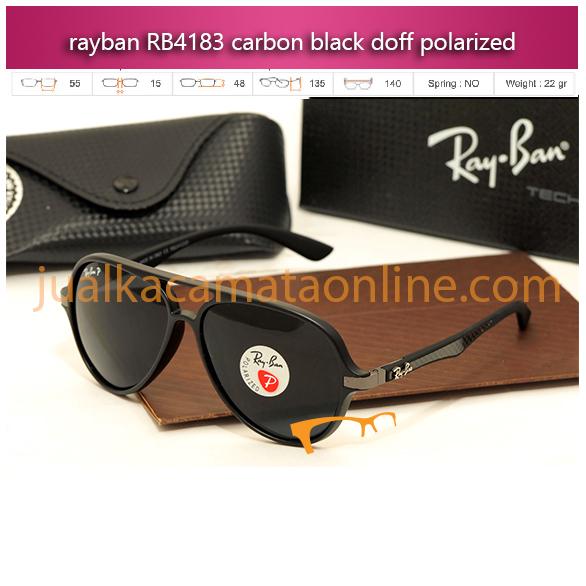 Jual Kacamata Rayban RB4183 Carbon Black Doff Polarized Terbaru