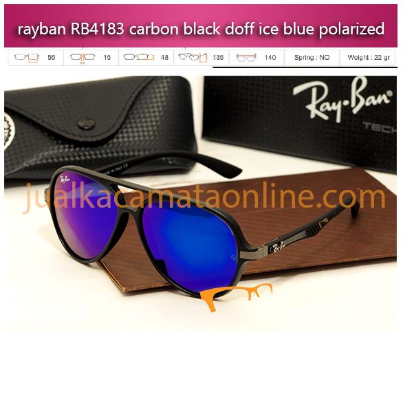 jual kacamata rayban rb4183 carbon black ice blue