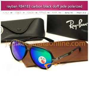 Jual Kacamata Rayban RB4183 Carbon Black Doff Jade Polarized