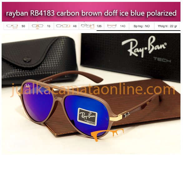 kacamata rayban rb4183 carbon brown ice