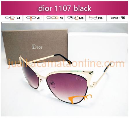 jual kacamata wanita dior 1107 black