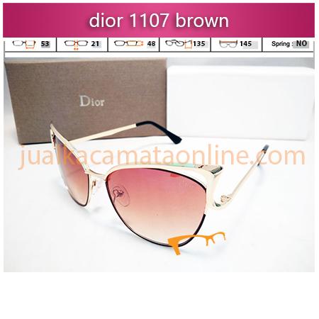 jual kacamata wanita dior 1107 gold brown