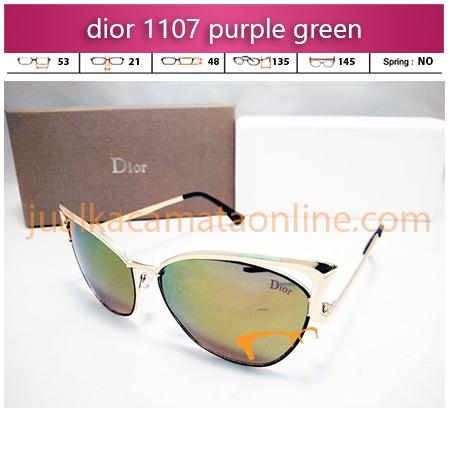 jual kacamata wanita dior 1107 purple green