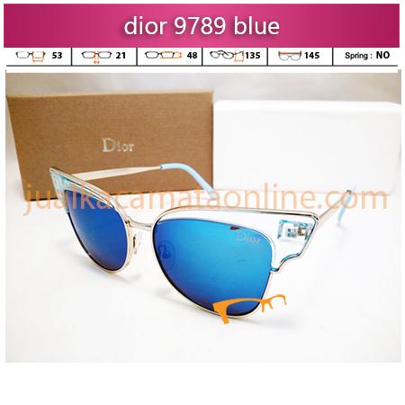 kacamata wanita dior 9789 trans blue