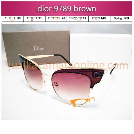 kacamata wanita dior 9789 brown