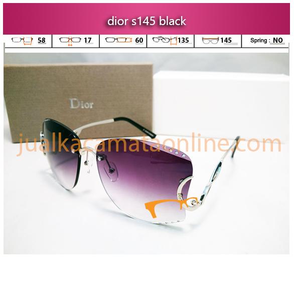 frame kacamata wanita dior s145 black