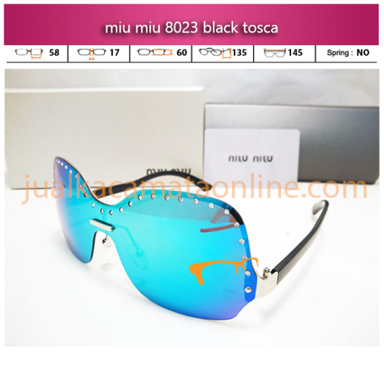 jual kacamata wanita miu miu 8023 black tosca