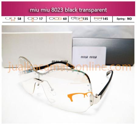 jual kacamata wanita miu miu 8023 transparent