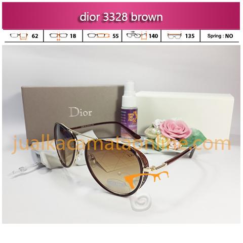 model kacamata wanita terbaru dior 3328 brown