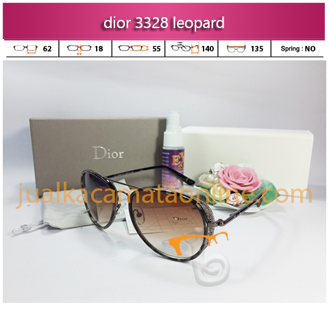 model kacamata wanita terbaru dior 3328 leopard