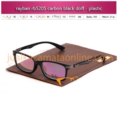 Frame Kacamata Rayban RB5205 Carbon Black doff