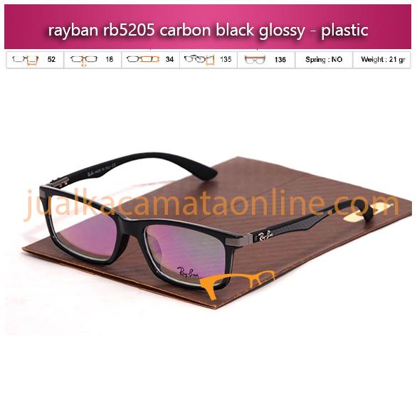 Jual Frame Kacamata Rayban RB5205 Carbon Black Glossy