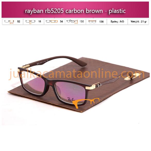 Jual Kacamata Rayban RB5205 Carbon Brown