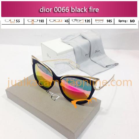kacamata dior 0066 black fire